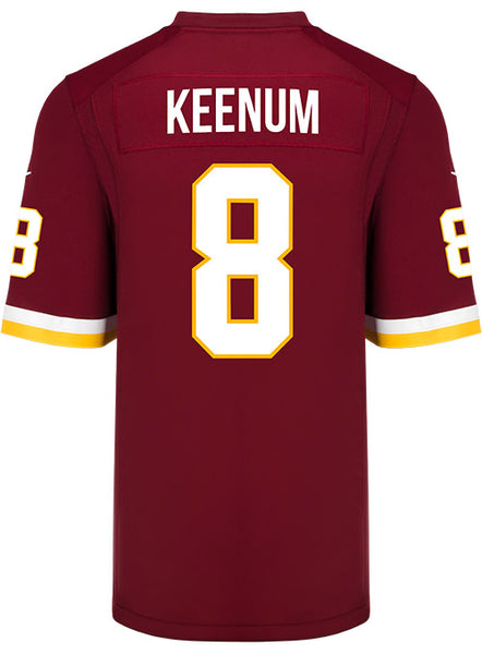 watch 8631b 5cb45 Nike Game Home Case Keenum Jersey | Redskins Team Store
