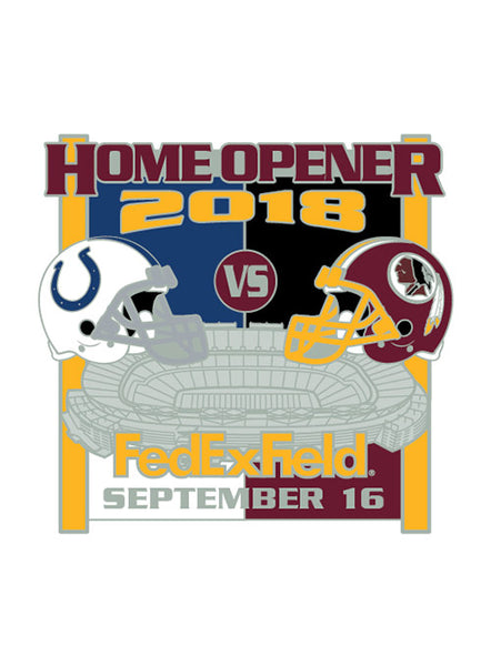 2018 Redskins vs. Colts Gameday Hatpin