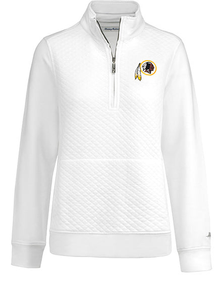 Ladies Tommy Bahama Redskins Gridiron 1/2 Zip Jacket