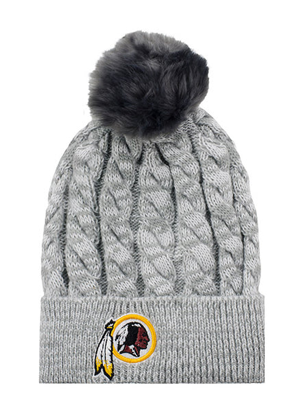 Ladies Redskins Cable Knit Hat