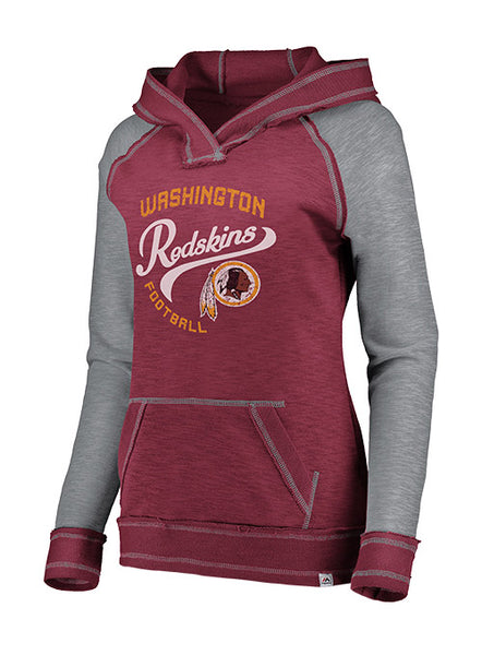 Ladies Majestic Redskins Hyper Hood Pullover Sweatshirt