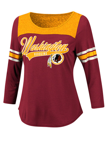 Ladies Redskins Touchdown 3/4 T-Shirt