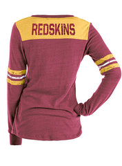Ladies 5th & Ocean Redskins Triblend Long Sleeve T-Shirt