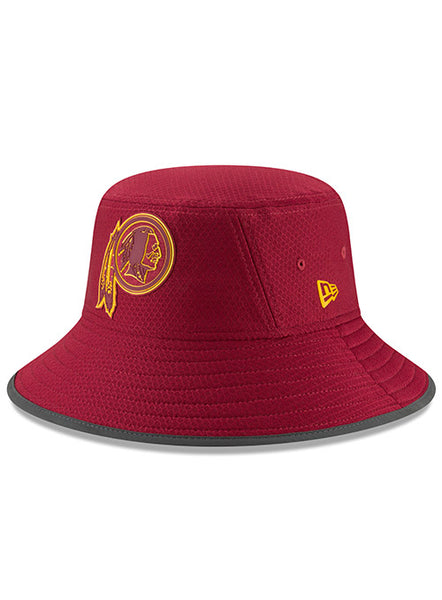 New Era Redskins 2018 Burgundy Training Bucket Hat