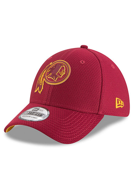 New Era Redskins 2018 Training Burgundy 39THIRTY Flex Hat