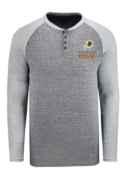 Redskins Concept Sports Long Sleeve Henley