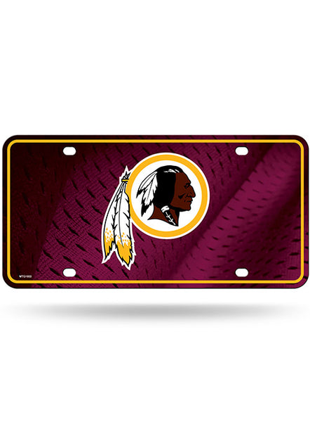 Metal Redskins License Plate
