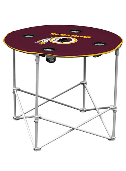 Redskins Round Tailgate Table