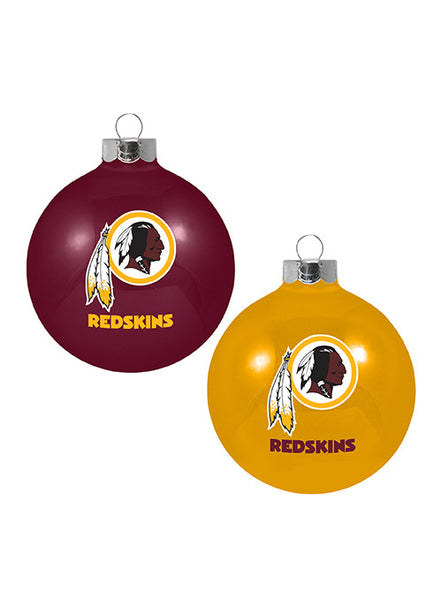 Redskins Two Pack Ornament Set