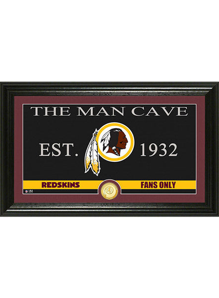 Redskins The Man Cave Bronze Coin Panoramic Photo Mint
