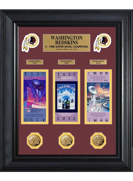 Redskins Super Bowl Champions Deluxe Gold Coin Ticket Collection