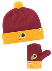 '47 Brand Redskins Youth Knit Set with Gloves