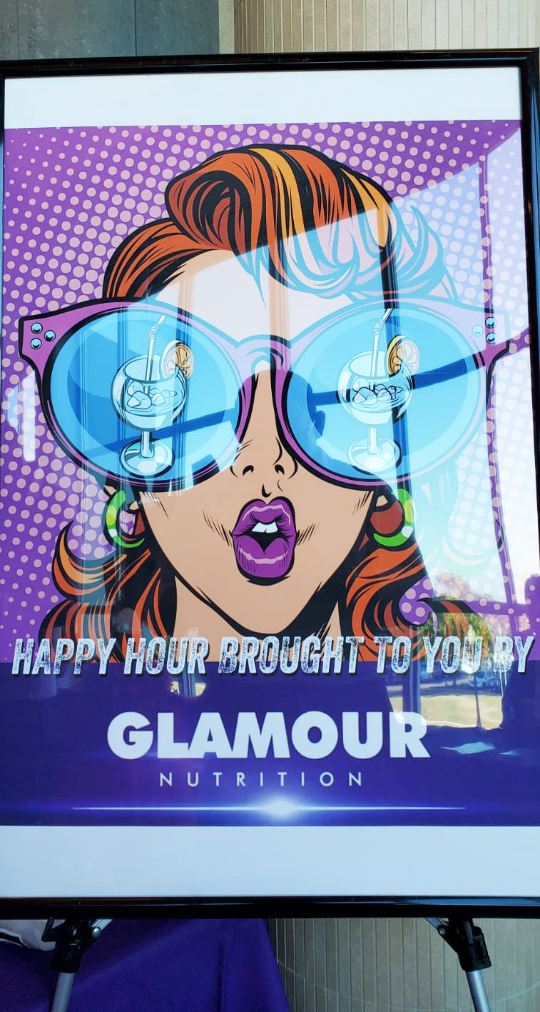 Curves fitness, Curves Convention, 2019, Happy Hour, sign, collagen, sponsord by Glamour Nutrition