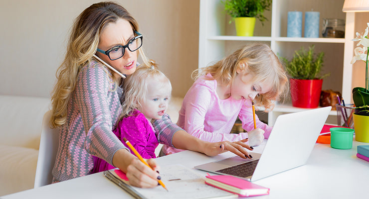 Work from home mom with kids
