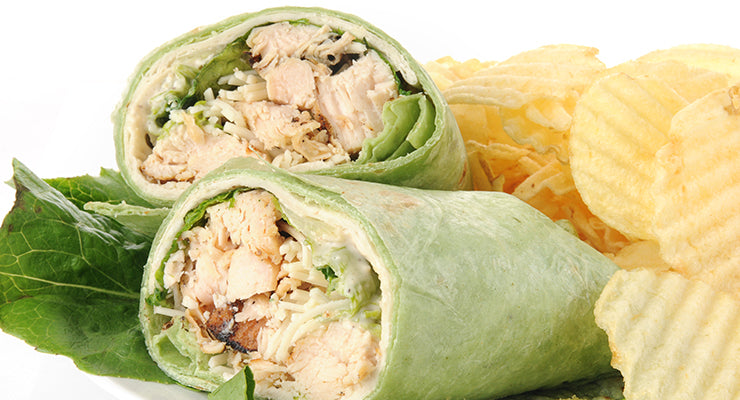 Chicken ranch Spinach wrap