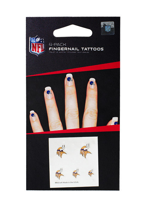 Vikings Fingernail Tattoos