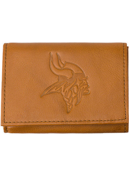 Leather Tri-Fold Vikings Wallet