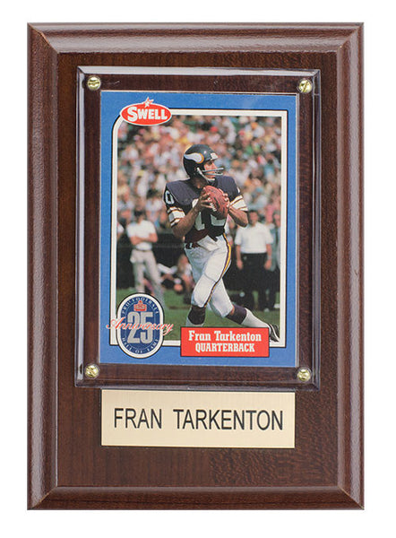 huge discount 8e5cb e4ffe Minnesota Vikings Fran Tarkenton Plaque | Vikings Throwback Collection |  Vikings Locker Room
