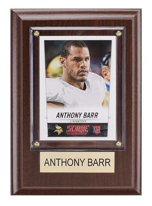 Minnesota Vikings Anthony Barr Plaque