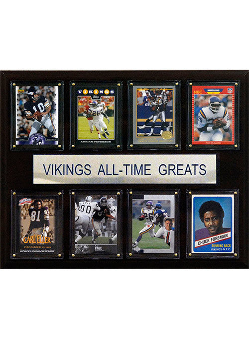 Vikings All-Time Greats 12''x15'' Photo Plaque
