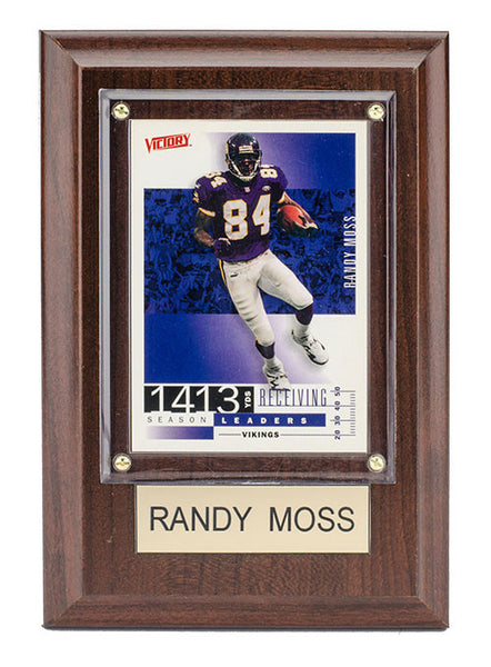 Vikings Randy Moss 4''x 6'' Plaque