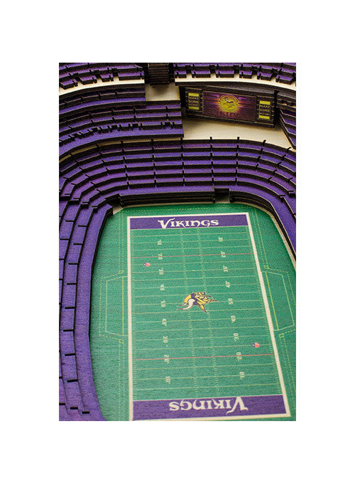 Vikings U.S. Bank Stadium View Wall Art