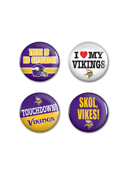 Vikings 4- Pack Button Set