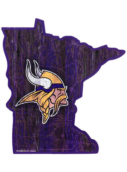 Vikings State Outline Sign
