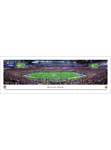 Minnesota Vikings 13.5'' x 40'' Inaugural Game Kickoff Panoramic Photo