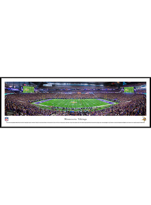 Vikings 13.5'' x 40'' Inaugural Game Kickoff Framed Panorama