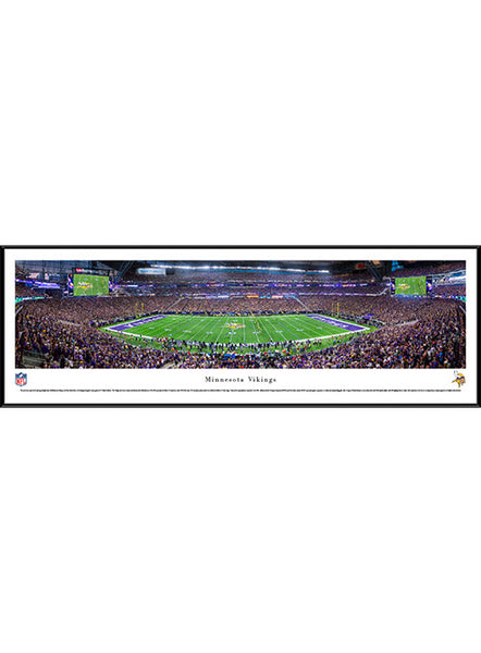 Minnesota Vikings 13.5'' x 40'' Inaugural Game Kickoff Framed Panorama