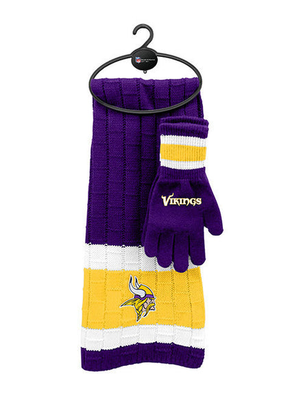 Vikings Scarf and Glove Knit Set