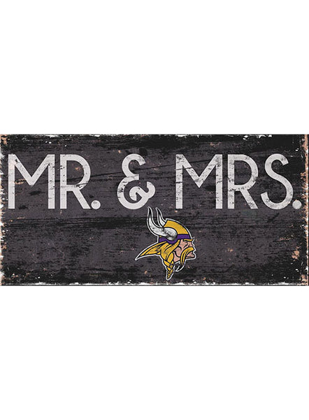 Vikings 6''x12'' Mr. & Mrs. Sign