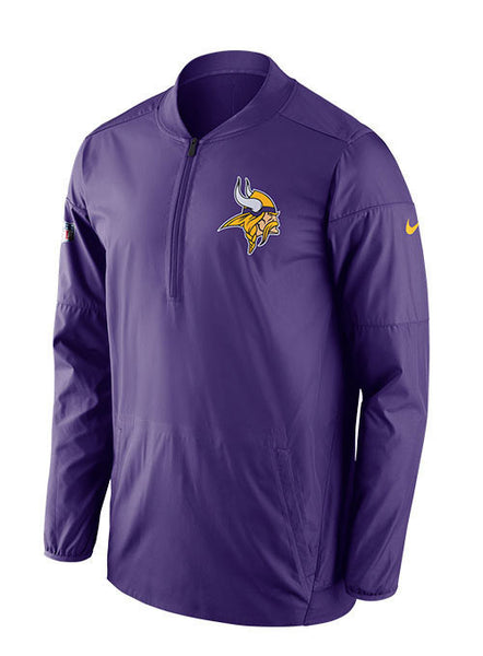 Nike Vikings Sideline 1/2 Zip Lockdown Jacket