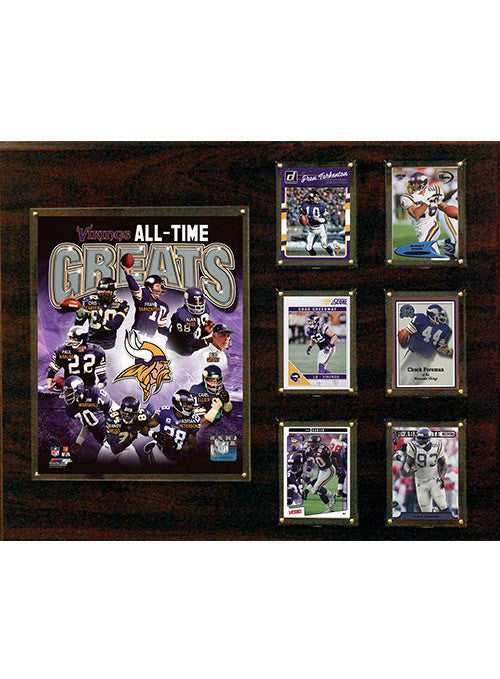 "Vikings All-Time Greats 16""x20"" Plaque"
