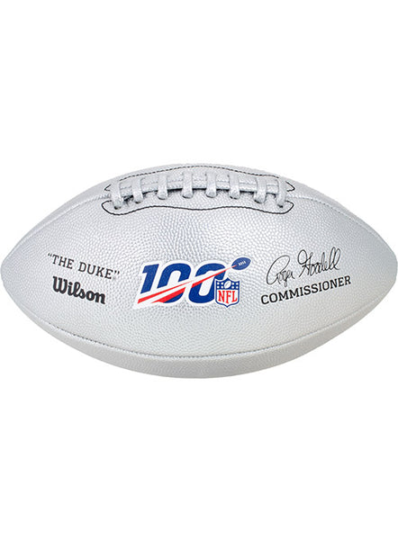 NFL 100th Season Silver Football