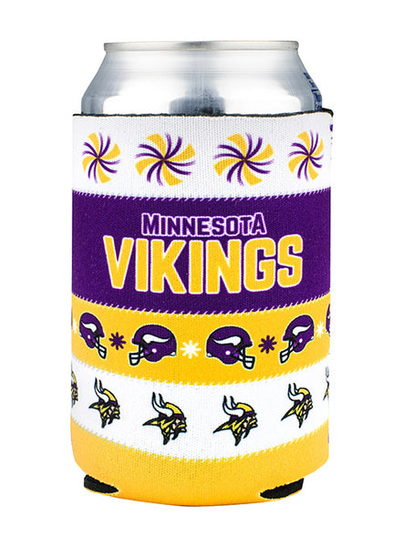 Vikings Ugly Sweater Can Cooler