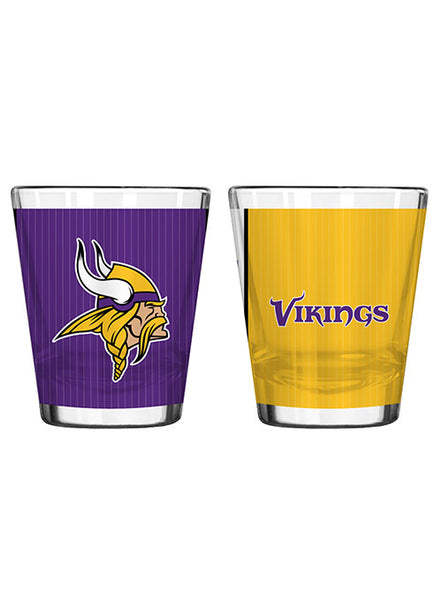 Vikings 2 Oz. Sublimated Shot Glass