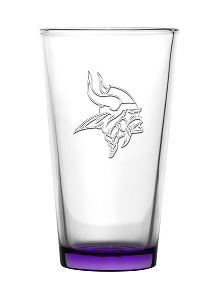 Vikings 16 oz. Embossed Pint Glass