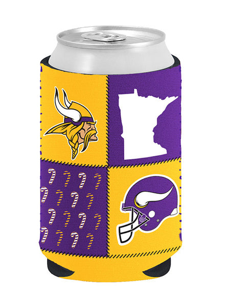 Vikings 12 Oz. Ugly Sweater Collapsible Can Coozie
