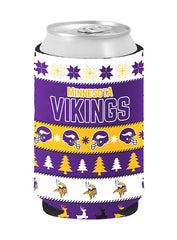 Vikings Ugly Sweater Collapsible Can Coozie