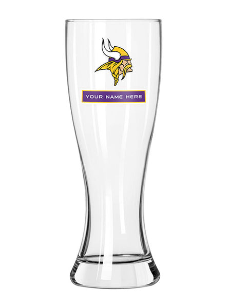 Vikings Personalized 23 Oz. Full Color Pilsner
