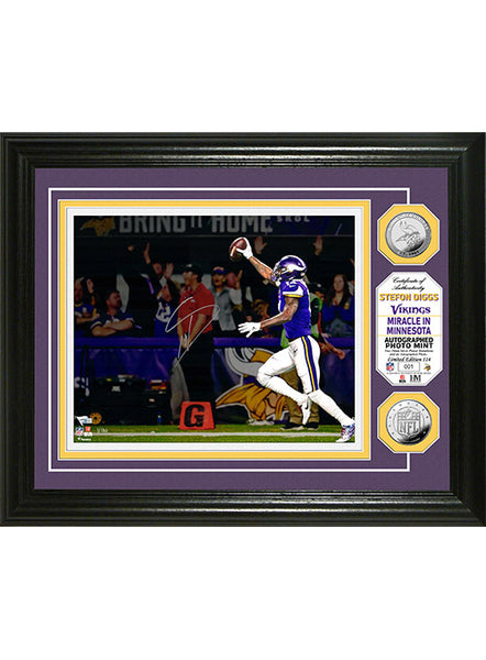 Vikings Stefon Diggs Framed Autographed 8