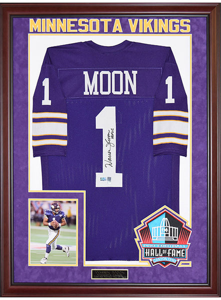 c05225eeb7d Vikings Warren Moon Framed Autographed Jersey | Vikings Locker Room