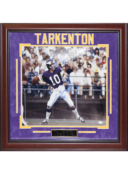Vikings Fran Tarkenton Framed Autographed Photo