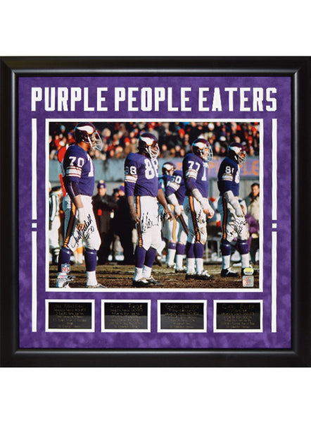 Vikings Purple People Eaters Framed Autographed Photo