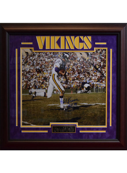 Vikings Paul Krause Framed Autographed Photo