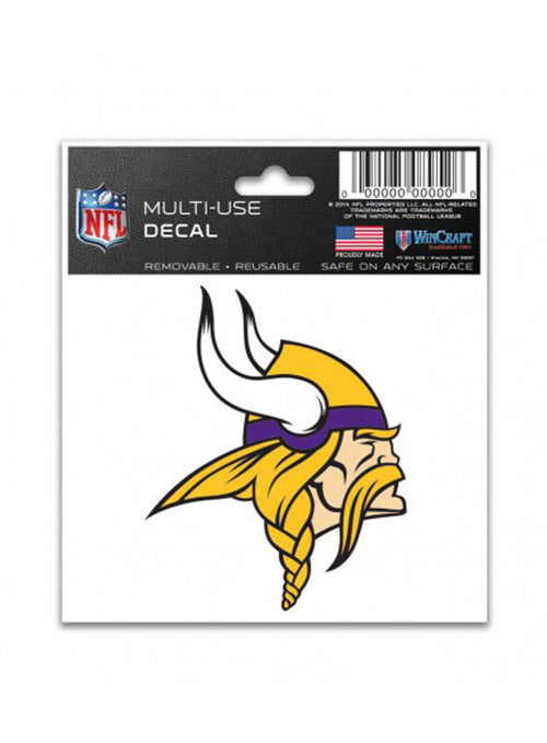 "Vikings 3"" x 4"" Multi-Use Decal"