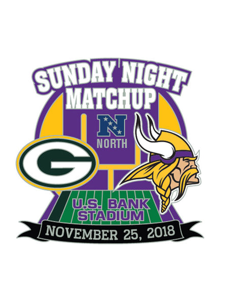 d7a5972b 2018 Vikings vs. Packers Gameday Hatpin | Sale Merchandise | Vikings Locker  Room