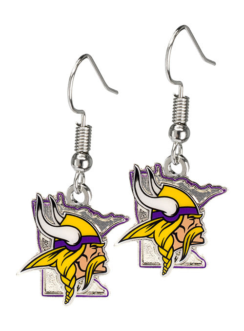 Vikings State Outline Earrings